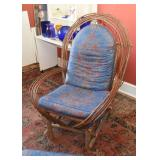 Bentwood / Twig Chair with Ottoman