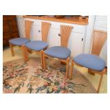 Set of 6 Mod Dining Chairs (4 Side Chairs & 2 Captain