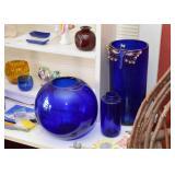 Cobalt Blue Glass Vases