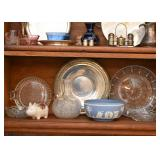 Silver Plate, Glassware, Wedgwood