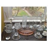 Glassware - Serving Pieces, Vases, Bowls, Candlesticks, Etc.