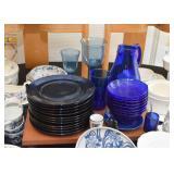 Cobalt Blue Glass Dinnerware / Dishes