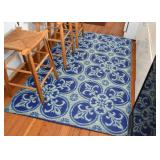 Blue Outdoor Area Rugs (there are 3 of these)