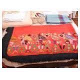 Stunning Vintage Embroidery Blanket
