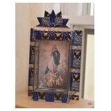 Tin Folk Art Shadow Box / Nicho