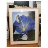Large Framed Painting (Morning Glory)