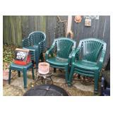 Plastic Outdoor / Garden Chairs, Birdhouse