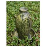 Green Pottery Urn Garden Fountain