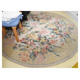 Round Floral Area Rug