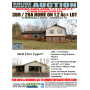 Online Absolute Auction of 3BR 2BA Home and Detached Garage on Large Lot