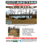 ONLINE BANKRUPTCY AUCTION of Mobile Home  Outbuilding and Large Lot