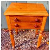 Two Drawer Cherry Stand