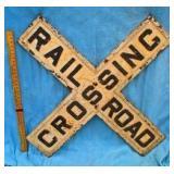 "41"" Cast Iron Railroad Sign"