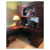 corner desk and hutch-sold together