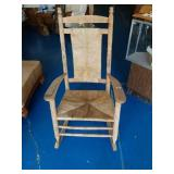 Nice Well Made Straw Bottom Rocking Chair