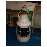 Vintage Red Glass Ship Lantern