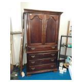 Beautiful Dark Wood T.V. Cabinet