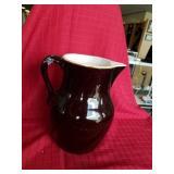 Old clay Buttermilk Primitive  pitcher
