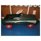 Vintage Green Toyland Metal Pedal Car