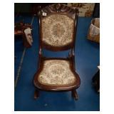 Vintage folding Victorian Rocking Chair