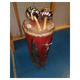 Vintage Drum with Shakers Very Cool