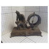 Antique Victorian  ANSONIA iron mantel clock