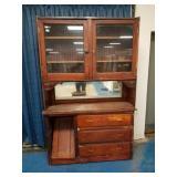 Two Piece Primitive cabinet