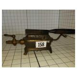 Antique hair straightening comb with Burner