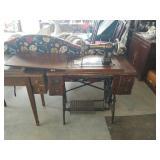 White rotary pedal  sewing machine