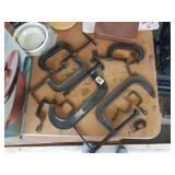 Vintage Estate lot of 11 various sizes clamps