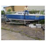 Catalina 22 ft Boat with Cabin & Trailer