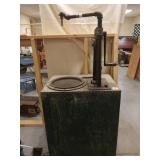 Vintage Bowser self measuring pump