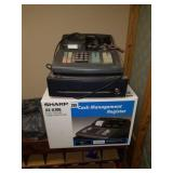 Lot of 2 Sharp Cash Management Registers