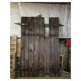 Beautiful Rustic Set of Barn Style Doors