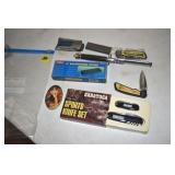 Pocketknives, stones, Comb