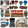 Online Auction - Graniteware Bowls, Jugs and Crocks, Shutters, Child's Picnic Table, and More!