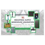 Industrial Supply Warehouse Liquidation #91