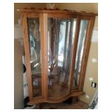 Bow front curio cabinet