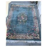 Teal Chinese Rug