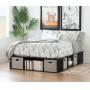 PLATFORM BED, CHAIRS, TABLES, BENCHES, BEDDING, LIGHTING, & MORE