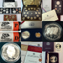 HUGE COIN COLLECTION - $5 Gold Coin, Silver Dollars & Eagles, UNC Sets, Silver Proof Sets & More!