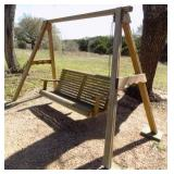Wooden Bench Swing
