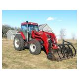 2001 Case IH MX 120 MFWD with Case L655 self level