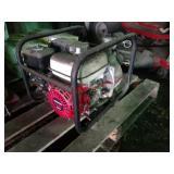 Trash pump with Honda GX 120 engine and Wayne 4hp