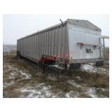 1979 Cornhusker grain trailer, spring ride, 11R22.