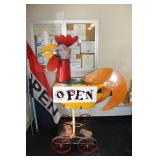 Open Sign Rooster