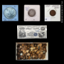 COINS, CURRENCY, GOLD, SILVER & JEWELRY
