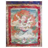 Tibetan Thangka of Vajrapani.