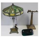Lot of 2 Arts and Crafts Table Lamps As / Found.