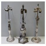 CALDWELL. E.F. Lot of 3 Lamps Attributed To